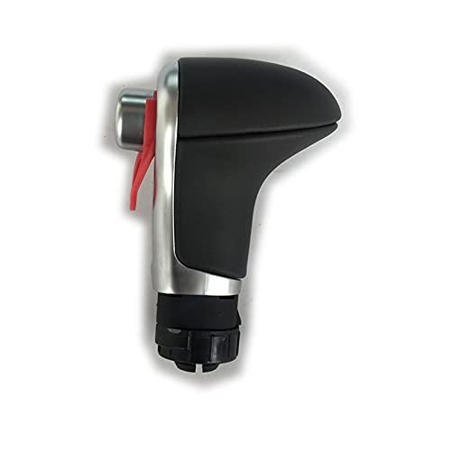 Wangtao Store Negro Gris Cambios de Cuero Perilla del Cambio for Audi Q7 Q5 A3 A4 A5 A6 A7 C6 C7 4G1 713 139 LHD automática Más Hermosa (Color Name : Black)