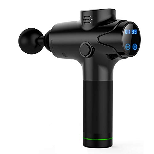 Massage Gun Deep Tissue Muscle Massager Portable Electric Pain Relief Percussion Therapy (-Black)