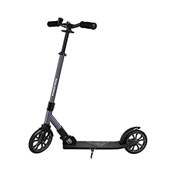 Swagtron K8 Titan Foldable Commuter Kick Scooter for Adults & Teens Height-Adjustable ABEC-9 Wheel Bearings Cobalt Gray