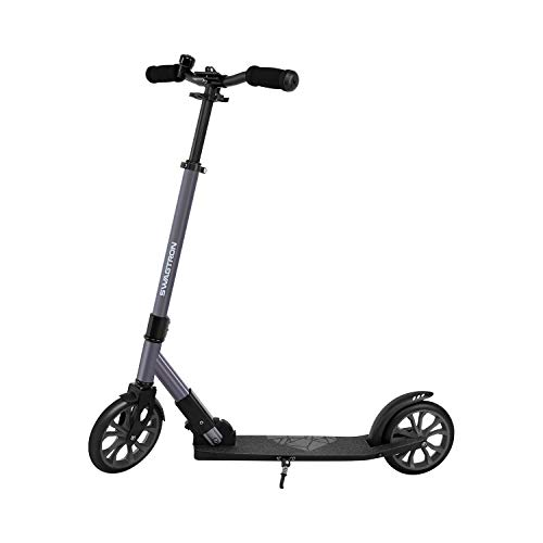 SWAGTRON K8 Titan Commuter Kick Scooter for Adults, Teens | Foldable, Lightweight w/ ABEC-9 Wheel Bearings | Height-Adjustable, 220LB Max Load