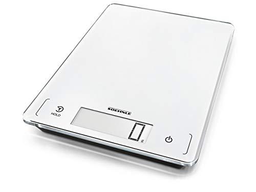 Soehnle Page Profi 300, digitale Küchenwaage, weiß, Gewicht bis zu 20 kg, Haushaltswaage mit Sensor-Touch, elektronische Waage inkl. Batterien, extragroße Wiegefläche, beleuchtete LCD-Anzeige