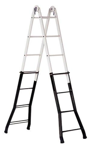 Altipesa - Escalera telescopica acero-aluminio 4+4 peldaños