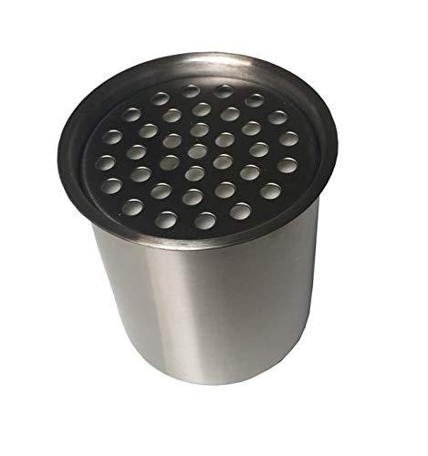Lata de acero inoxidable de 0,45 l con lana de cerámica, chimenea de mesa de bioetanol, variante: recipiente de 450 ml