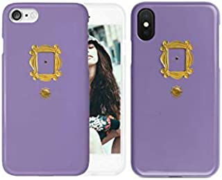 New Friends Tv Show Purple Door Gold Frame Peephole Phone Case | iPhone 6 6s 6+ 7 7+ 8 8+ X XS XR Max (iPhone Xs Max)