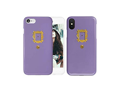 New Friends Tv Show Purple Door Gold Frame Peephole Phone Case | iPhone 6 6s 6+ 7 7+ 8 8+ X XS XR Max (iPhone 7+/8+)