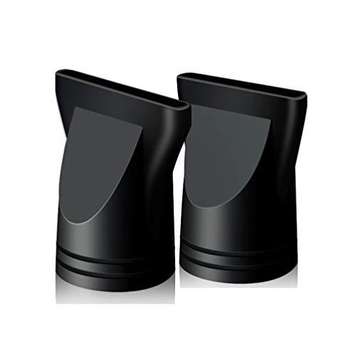 2 boquillas de repuesto para secador de pelo de plástico negro no universal, concentrador estrecho, herramienta de peinado especial para el diámetro exterior de 4,5 cm