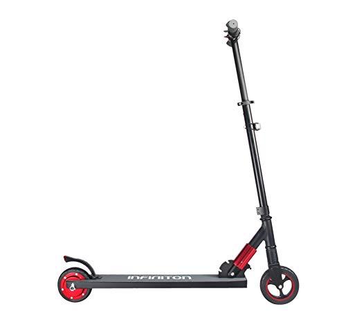 Patin ELECTRICO Scooter EASYWAY BOULEVAR INFINITON (Ruedas de 6,5', Velocidad máxima 23km/h, Movilidad Urbana) (Negro-Rojo)