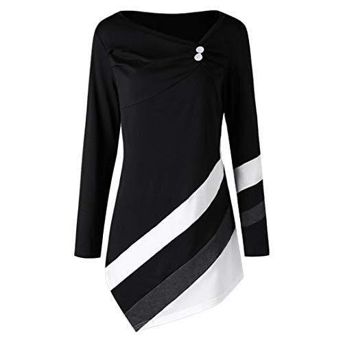 IMJONO T-Shirt Damen Sommer Kurzarm O-Ausschnitt Rose Drucken Weste Tops Bluse(EU-48/CN-5XL,Schwarz)