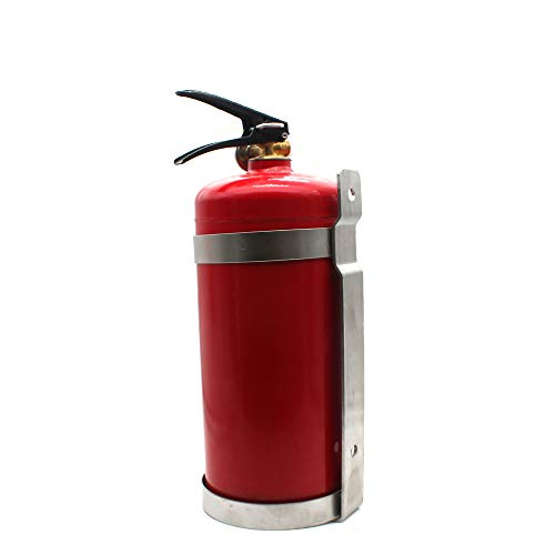 Stainless Steel Fire Extinguisher Bracket, Heavy Duty, Compatible with 5-Pound ABC Dry Powder Fire Extinguishers
