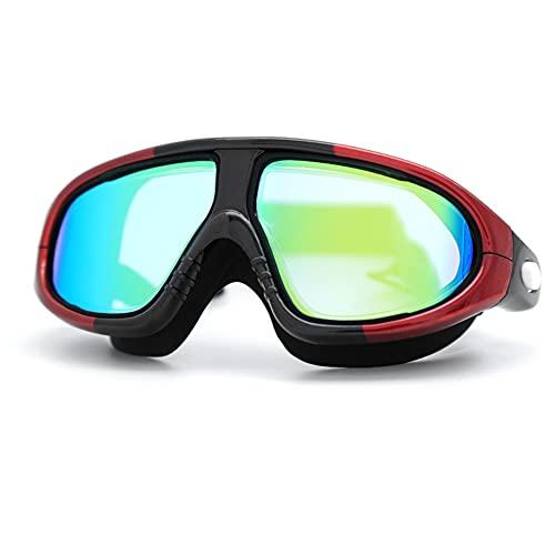 GUANXIL Gafas de natación, Antivaho, Protección UV, Resistentes Gafas para Nadar Bucear Ajustables para Adultos, Hombres, Mujeres, Jóvenes (C)