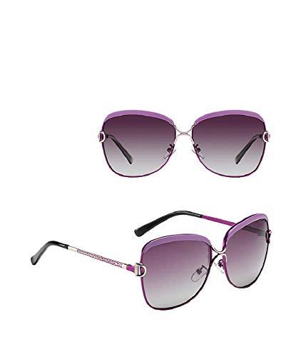 Gafas de sol polarizadas clásicas para mujer con marco grande