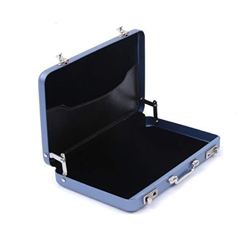 Nueva Caja de Almacenamiento de Aluminio Identificación de Negocios Titular de la Tarjeta de crédito Mini Maleta Banco Tarjeta Bank Holder Caja de Joyería Organizador Rectángulo (Color : Blue)