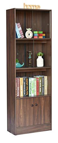 DeckUp Cove Engineered Wood Book Shelf and Display Unit (Walnut, Matte Finish)