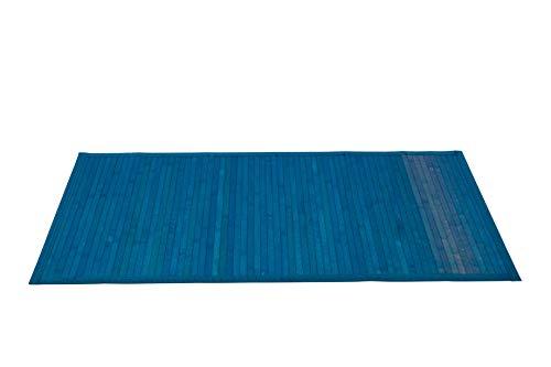 thesecrethome.es Alfombra Bambu - Antideslizante 60 x 110 cm Azul - Decoracion Dormitorio Oficina Salon