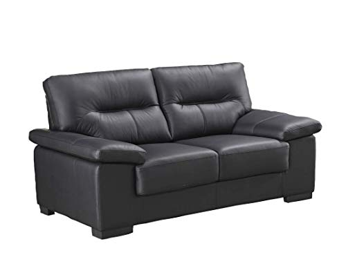 Voll-Leder Sofa 2-Sitzer Ledersofa Sessel Zweisitzer Couch 156-2-S