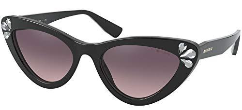 Miu Miu Gafas de Sol CRYSTAL TEARDROPS SMU 01V BLACK/PINK SHADED 55/19/140 mujer