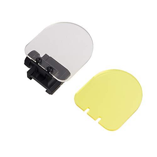 FOCUHUNTER Taktisches Objektiv - Airsoft Displayschutzfolie Faltbares Reflex Objektiv Red Dot Sight für Das Jagdschießen (Black)