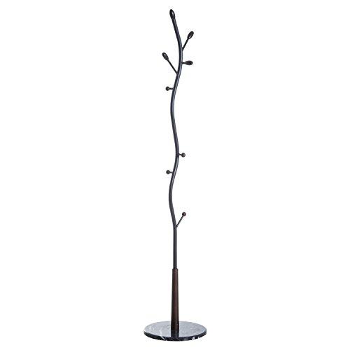 appendiabiti da terra albero homcom Appendiabiti da Terra Attaccapanni Forma Albero Moderno Ingresso 35 × 35 × 185cm Nero