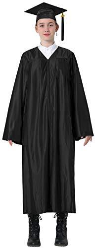 GraduatePro Graduación Toga y Birrete Universidad 2021 Bachillerato Adulto Disfraz Regalo Unisex Mujer Hombre Billante 12 Colores