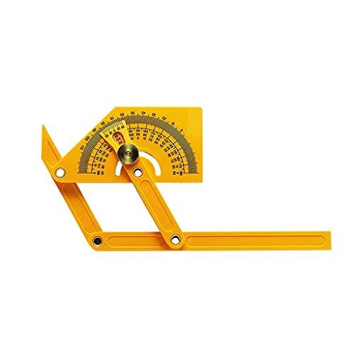 UOEIDOSB Transportador preciso y buscador de ángulos Herramientas de medición de carpintería 0 ° a 180 ° para medir Ángulo Interno/Externo Transportador de plástico