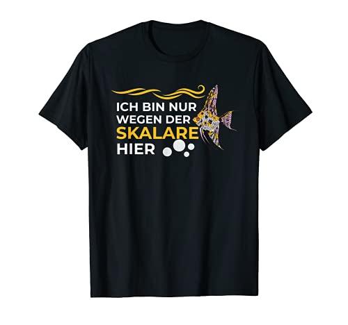 Skalar Fisch Fische Futter Aquarium Laichkegel Fan Liebhaber T-Shirt