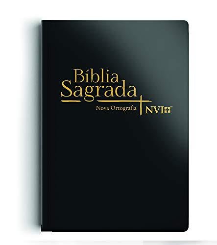 Bíblia NVI grande Novo Testamento - 2 cores capa semi luxo preta