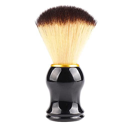 Hair Shaving Brush Shave Sweep Brush Boar Hair Straight Razor Barber Face Cleaning Handle Salon Tool Gift for Men Women