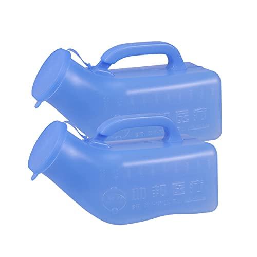 HEALLILY 2Pcs 1000Ml Bottiglia Portatile Orinatoio Pee Wc Unisex per Ospedale Casa di Campeggio Auto Da Viaggio Viaggio