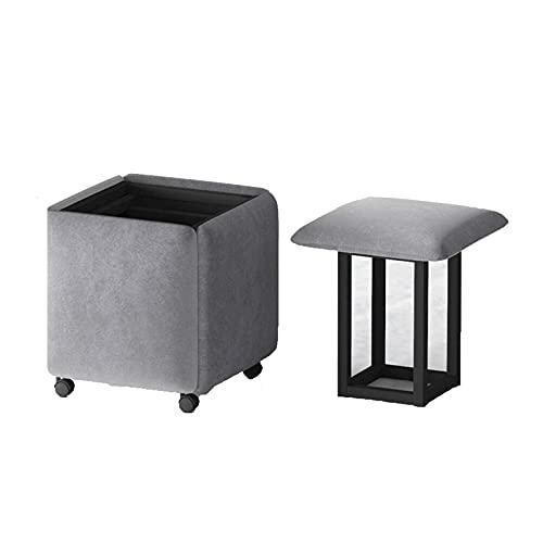 Multifunktionale Sitzgelegenheiten, 5 in 1 Stapelbarer Sofa Stuhl Hocker Wohnzimmermöbel Home Kombination Klapphocker Eisen Multifunktionaler Aufbewahrungsstuhl, Geeignet für Wohnung, Wohnzimmer