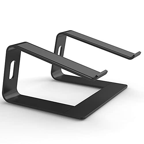 Laptop Stand, Portátil Ajustable ventilada Titular portátil, para Apple MacBook Pro/Aire, DELL, Lenovo, HP y Todos los Ordenadores portátiles 10-17inch,Negro