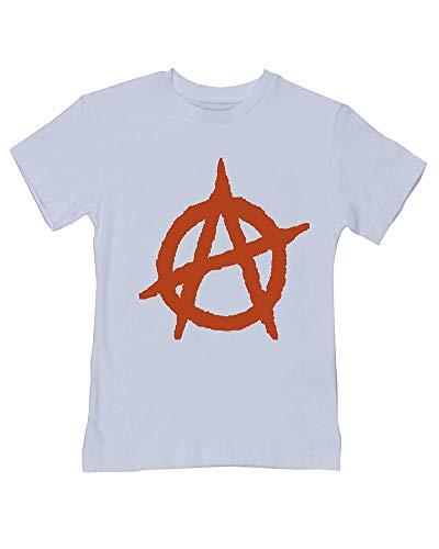 Camiseta antiestablecimiento con símbolo de anarquía, estilo para bebé/niño Azul azul 24 meses