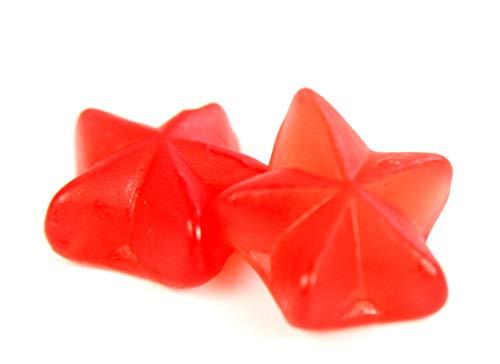 Fruchtgummi rote Glühwein Sterne mit Zimtgeschmack ohne Alkohol 175g