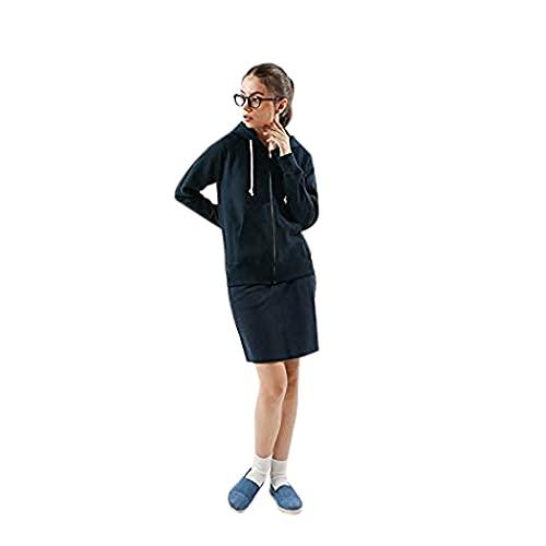 [チャンピオン] フルジップスウェットシャツ パーカー 長袖 裏毛 スクリプトロゴプリント 10oz リバースウィーブ ジップフーデッドスウェットシャツ CW-K107 レディース ネイビー M