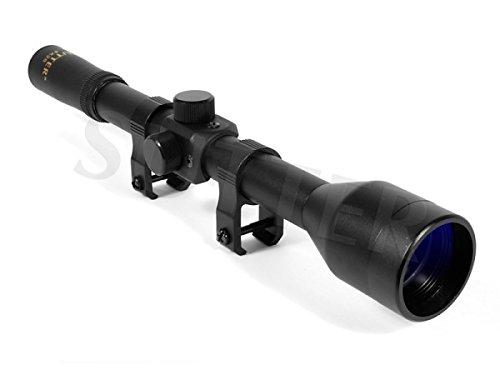 SUTTER Zielfernrohr 4x28 Duplex/inkl. Montagen für 11mm Schienen/Zieloptik für Jagd, Kleinkaliber, Luftgewehr & Softair