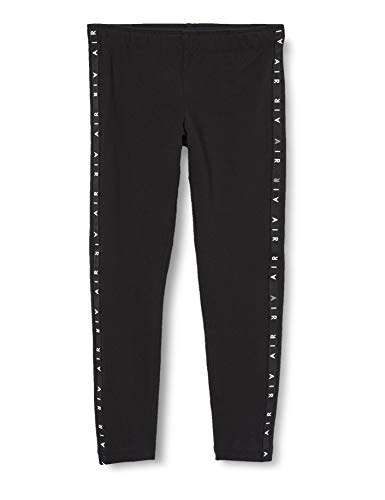 Nike Girls G NSW Air Favorites Lggng Leggings, Black/Black/White, L