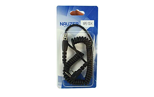 NAUZER NPE-100K Cable con Conector Kenwood Dos Pins y Conector Tipo Peltor para walkie talkies Kenwood Compatible con Peltor Flex Headset, Peltor OraTac Peltor FMT120 y WS5 Adapter