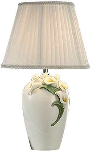 Tafellamp Bureau Lampen Decoratie Tafellamp Landelijk Wit Tafellamp Woonkamer Slaapkamer Kinderkamer Nachtlampje Calla Lelie Tafellamp E27 Decoratieve Lampen