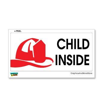 Graphics and More Child Inside - Home Firefighter Fireman Alert - Window Bumper Sticker