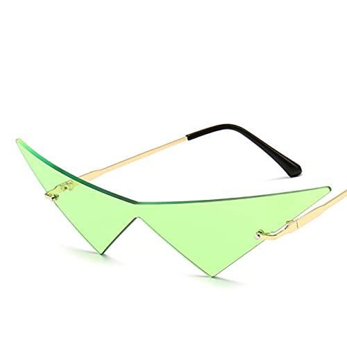Gafas de Sol Hombres Ojo Ojo Verde Gafas de Sol Tendencias de la Moda Gafas de Sol de Moda Imitación de Lujo Inusual Imitación de Estilo Vintage Shades Vogue (Color : C)