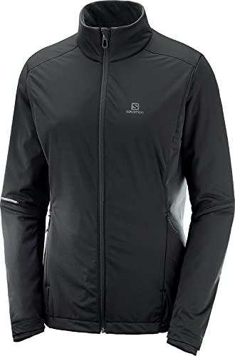 Salomon, Veste de Sport pour Femme, AGILE WARM JKT W, Polyester, Noir, Taille : S, LC1157200