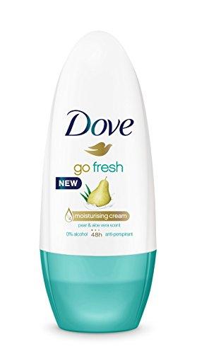 Dove Go Fresh Pera Desodorante Roll On 50 ml - [Pack de 6]