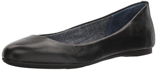 Dr. Scholl's Shoes Women's Giorgie Ballet Flat, Black Leather, 7 M US