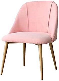 FDN Cocina Sillas De Comedor De Terciopelo,para Oficina Salón Comedor Cocina Habitación Habitación Hotel con Piernas De Acero Sillas De Sala Sillas de Comedor (Color : Pink, Size : Golden Legs)