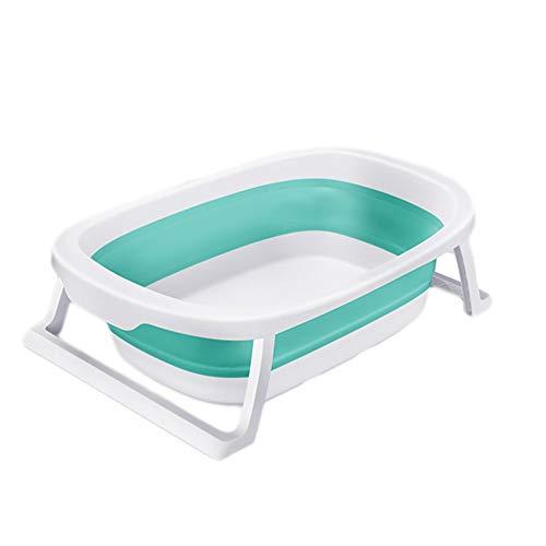 NUBAOgy opvouwbare baby bad, baby bad bad, kinderen zwemmen bad met een draagbare afvoer, gemakkelijk opslag, badkamer netwerk, 0-6 jaar, 2 kleuren, 83X49X23CM