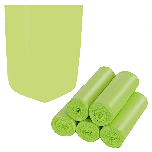 Trash Bags Biodegradable,4-6 Gallon Trash bags Recycling & Degradable Garbage Bags Compostable Bags Strong Rubbish Bags Wastebasket Liners Bags for Kitchen Bathroom Office Car(100 Counts,Green)