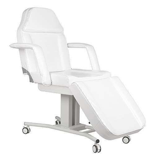 Activeshop Basic A-241 - Camilla de masaje (150 kg, piel sintética con ruedas, 186 x 62 x 74 cm), color blanco