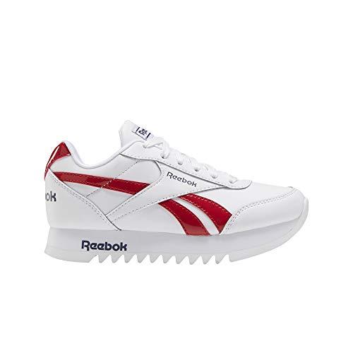 Reebok Royal CLJOG 2 Platform, Zapatillas de Running, Blanco/Maruni/VECRED, 30 EU