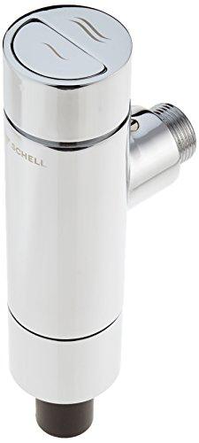 """SCHELL 022500699 WC-Spülarmatur SCHELLOMAT SILENT ECO SV, DN20 , Spülarmatur / WC Druckspüler ¾"""" , Ganzmetall-Spülarmatur mit Drucktaste, mit Rohrunterbrecher, mit integriertem Serviceabsperrventil , 1 – 1,3l/s; 1,2-5bar; 4,5-9l; ,28 x 26mm"""