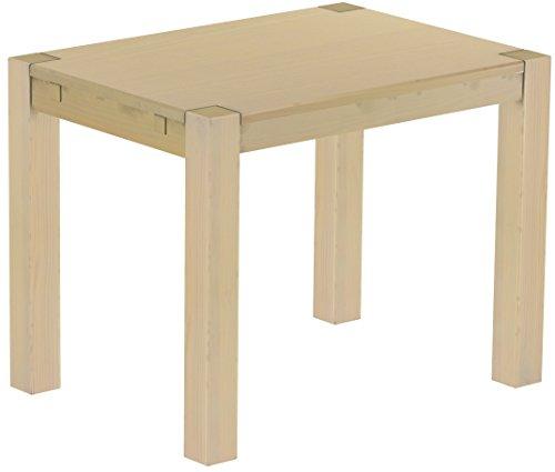 Brasilmöbel Esstisch Rio Kanto 100x73 cm Birke Pinie Massivholz Größe und Farbe wählbar Esszimmertisch Küchentisch Holztisch Echtholz vorgerichtet für Ansteckplatten Tisch ausziehbar