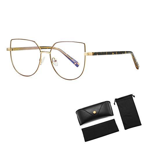 HUALUDA Anti Eyestrain Readers for Women/Men, Blue Light Blocking Glasses, Blue Light Blocking Reading Glasses - with Glasses Case (Color : D)